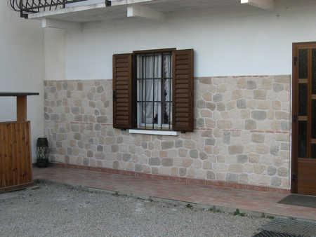 Piastrelle finto muro latest decorativo brick red rosso mattone