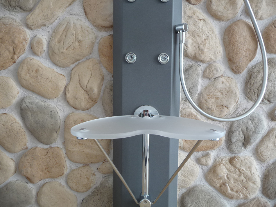 Rivestimento con pietra ricostruita modello assisi 004 - Pannelli per rivestimento interno doccia ...