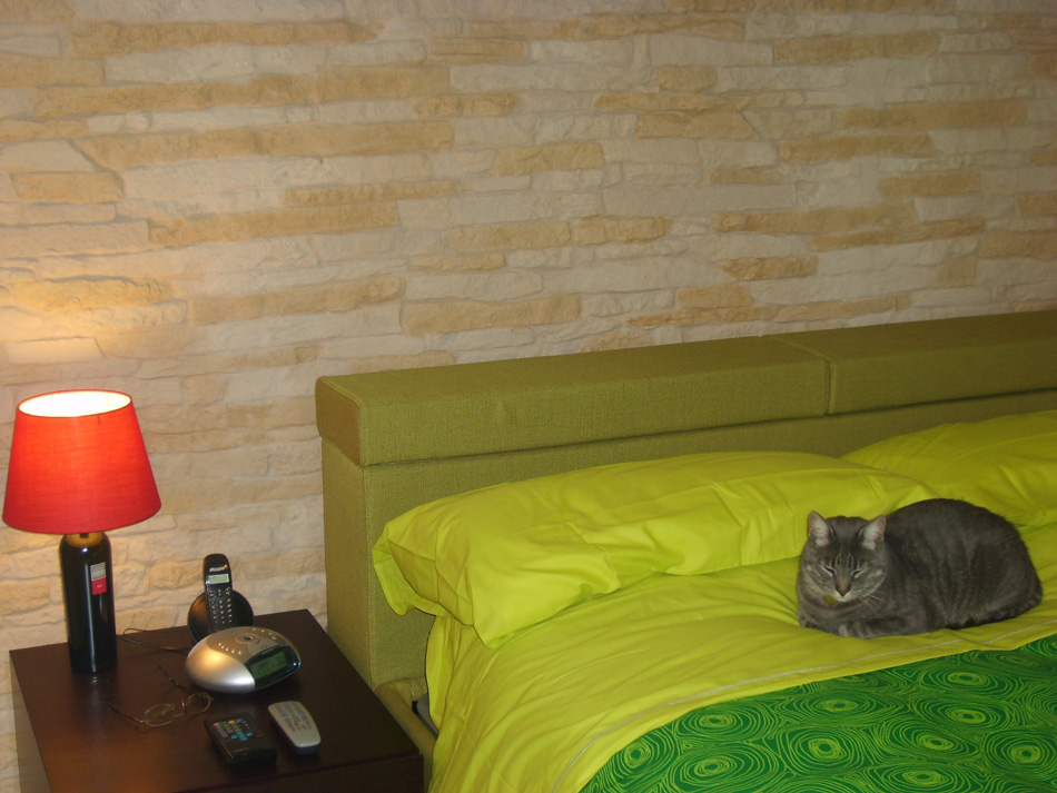 Pannelli in finta pietra cortina 002 - Rivestimento camera da letto ...