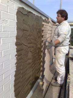 Esempio di installazione pannelli in finta pietra - Finta pietra per esterno ...